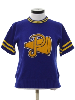 1960's Womens Knit Cheerleader Shirt