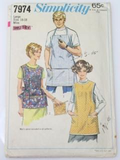 1960's Unisex Apron Pattern