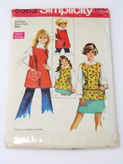 1960's Womens/Girls Apron Pattern