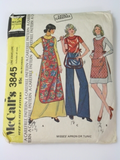 1970's Womens Apron Pattern