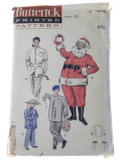 1950's Unisex Costume Pattern*