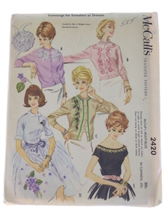 Womens Vintage 50s Sweater Patterns At Rustyzipper Com Vintage Clothing
