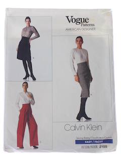 1980's Womens Designer Pattern