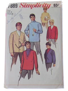 1960's Mens/Boys Pattern