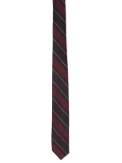 1960's Mens Skinny Diagonal Striped Necktie