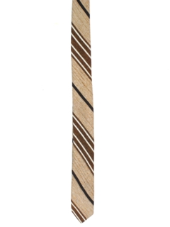 1950's Mens Skinny Diagonal Striped Necktie