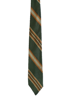 1970's Mens Diagonal Striped Necktie