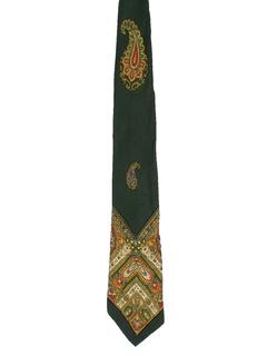 1960's Mens Paisley Hippie Necktie