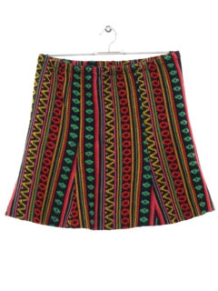 1970's Womens Hippie Mini Skirt