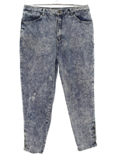 1980's Womens Acid Washed Totally 80s Jeans Pants