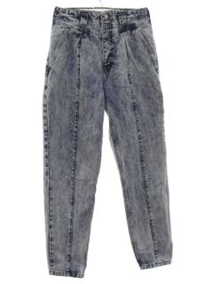 1980's Womens Totally 80s Designer Acid Wash Jeans Pants