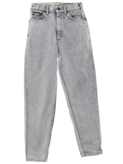 1980's Womens  Totally 80s Stone Wash Jeans Pants