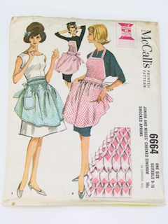 1960's Womens Apron Pattern