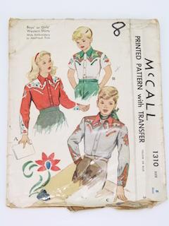 1940's Unisex Childs Pattern