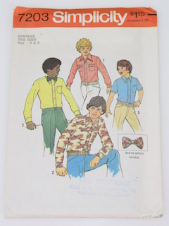 1970's Mens/Boys Pattern