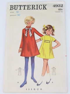 1960's Womens/Girls Mod Pattern