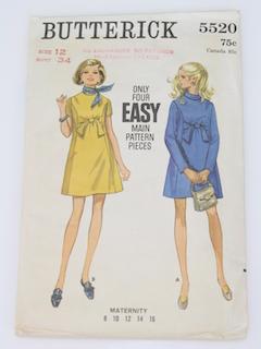 1960's Womens Mod Pattern