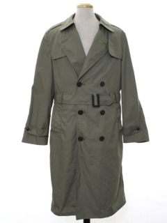 1960's Mens Overcoat Trenchcoat Jacket