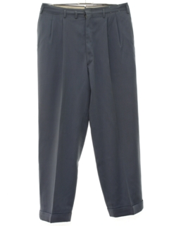 1950's Mens Pleated Gabardine Slacks Pants