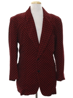 1970's Mens Corduroy Disco Blazer or Sportcoat or Smoking Style Jacket