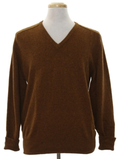 1960's Mens Mod Wool Sweater