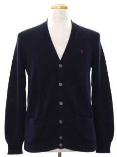 1980's Mens Preppy Cardigan Sweater