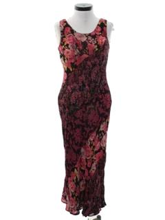1980's Womens Maxi Print Dress