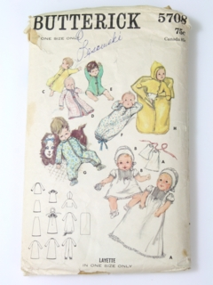 1960's Womens/Childs Newborn Pattern