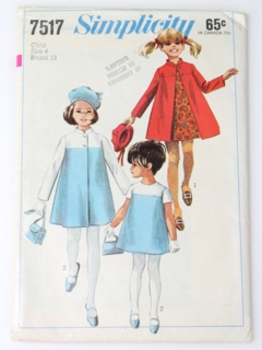 1960's Womens/Childs Mod Pattern