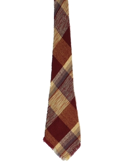 1940's Mens Wide Wool Swing Necktie