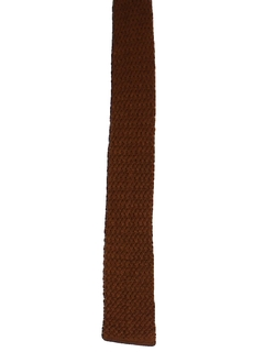 1960's Mens Knit Flat Bottom Necktie