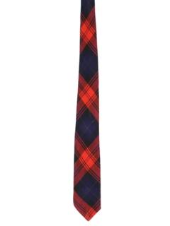 1960's Mens Mod Tartan Plaid Necktie