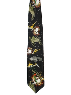 1990's Mens Wide Star Wars Necktie