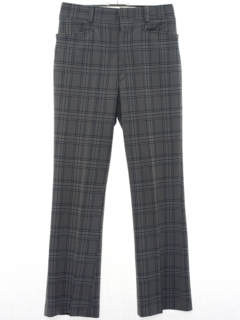 1960's Mens Plaid Flared Leisure Pants