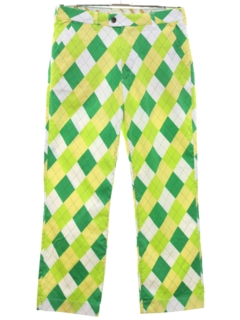 1970's Mens Flared Golf Pants