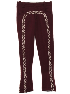1960's Mens Mod Flared Leisure Style Mariachi Pants