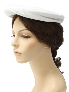 1960's Womens Accessories - Leather Beret Hat