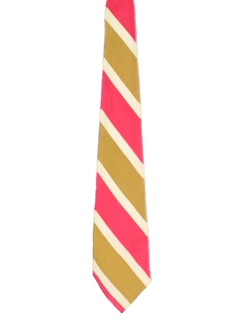 1960's Mens Wide Diagonal Stripe Necktie