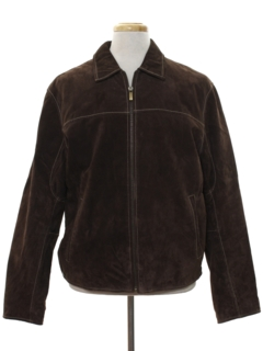 1960's Mens Mod Suede Leather Jacket