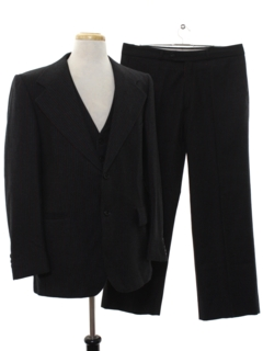 1970's Mens Pinstriped Disco Style Suit