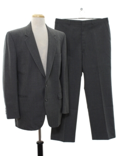 1980's Mens Wool Pinstriped Suit