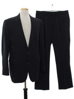 1980's Mens Totally 80s Pinstriped Suit