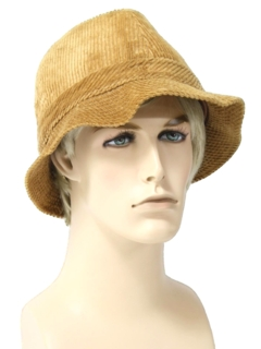 1980's Mens Accessories - Corduroy Hat
