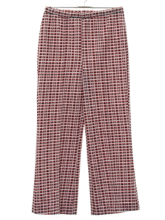 1970's Womens Plaid Flared Pants