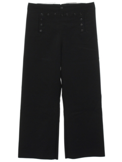 1990's Mens Navy Style Bellbottom Pants