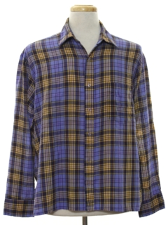 1960's Mens Mod Plaid Sport Shirt
