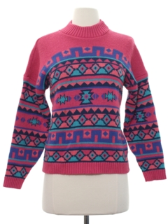 1980's Womens/Girls Totally 80s Sweater
