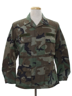 1980's Mens Military Us Army Uniform Shirt