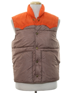1980's Mens Western Style Totally 80s Ski Vest Jacket
