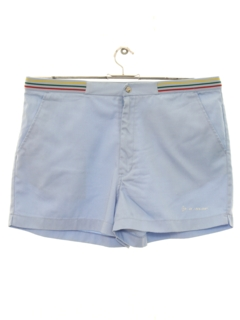 1980's Mens Totally 80s Preppy Tennis Sport Shorts